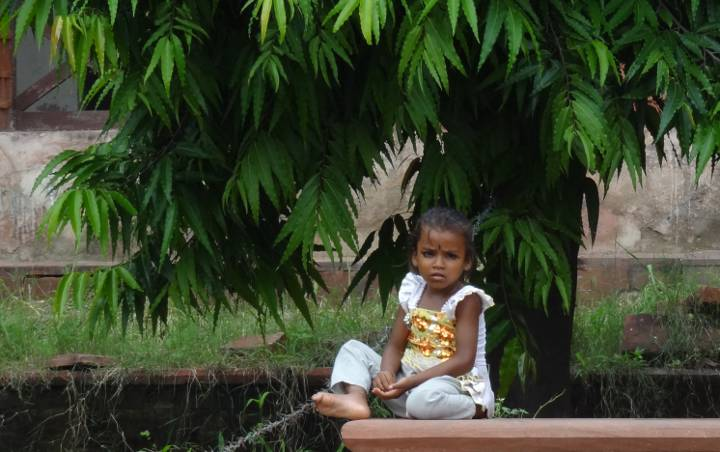 menina no red fort india